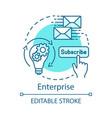 enterprise concept icon vector image vector image