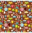 Flat Summer Travel Voyage Seamless Pattern vector image