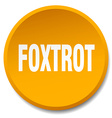 foxtrot orange round flat isolated push button vector image vector image