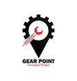 gear point vector image vector image