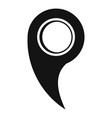 gps mark icon simple style vector image vector image