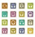 headphones icons set vector image vector image