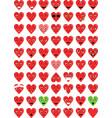 hearth love emoticons vector image vector image