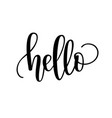 hello lettering design vector image vector image