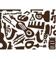 Jazz music instruments -doodles vector image vector image
