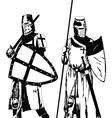 Knights vector image vector image