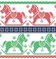 Merry Christmas Scandinavian Nordic pattern vector image vector image