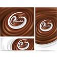 milk tongue splash on chocolate waves background vector image vector image