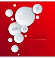 modern circle infographics background vector image vector image