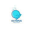 octopus fun logo for baby and kids goods vector image vector image