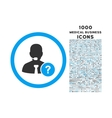 Online Support Rounded Icon with 1000 Bonus Icons vector image vector image