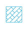 parquet floor linear icon concept parquet floor vector image