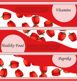 pepper or paprika label or banner vector image vector image