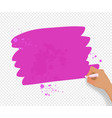 pink banner with paint splashes vector image vector image