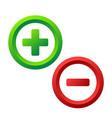 plus and minus icon buttons on white stock vector image vector image