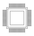 processor the black color icon vector image vector image