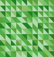 Retro triangle pattern with green background vector image vector image