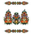 russian ornamental plant vector image vector image