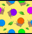 seamless pattern for kids in the form of snails vector image vector image