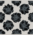 seamless pattern with hand drawn stylized anemone vector image vector image