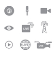 Set of live technology icons concept vector image vector image