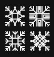 set square snowflake flat icon vector image vector image