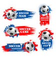 soccer team football championship backdrops vector image