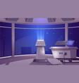 spaceship control center captain cabin interior vector image vector image