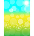 summer spring sunny bokeh abstract background vector image vector image