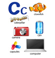 Things that start with the letter C vector image vector image