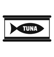 tuna tin can icon simple style vector image vector image