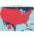 united states america state detailed editable vector image vector image