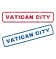 Vatican City Rubber Stamps vector image vector image