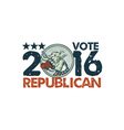 Vote Republican 2016 Elephant Boxer Circle Etching vector image vector image