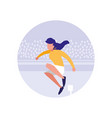 woman practicing running avatar character vector image