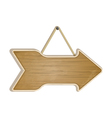wooden arrow sign on white vector image vector image