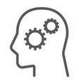 business solution line icon development vector image