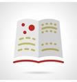 School astronomy book flat design icon vector image