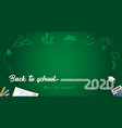 2020 back to school lines design vector image