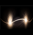 abstract background - the energy flows vector image vector image