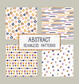abstract collage seamless patterns set vector image