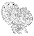 adult coloring bookpage a cute turkey image vector image