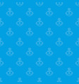 anchor pattern seamless blue vector image