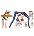 ancient egypt legend cartoon vector image vector image