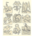 animals and medieval scenes vector image vector image