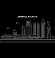 atlanta silhouette skyline usa - atlanta vector image vector image