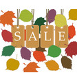 autumn seasonal sale background with beige price vector image vector image