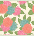 beautiful seamless pattern with flowers asters vector image vector image