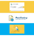 beautiful task on time logo and business card vector image