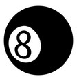 billiard ball icon simple black style vector image vector image